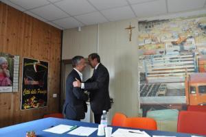 Filippo Giombarresi e il Pres. G. Fini